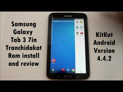 Samsung Galaxy Tab 3 TranchidaKat Rom install and review