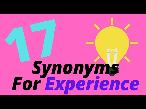 8 Synonyms For Experience