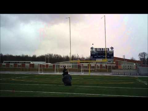 Arik kicks field goals at Midview High School  11-23-12