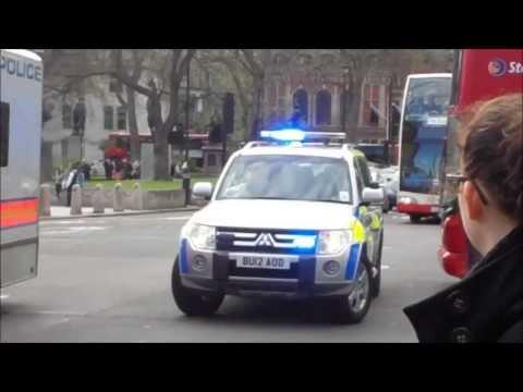 Metropolitan police + LAS responding // protest 04/05/2013