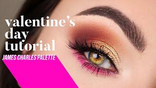 Valentine's Day Makeup Tutorial | James Charles Palette