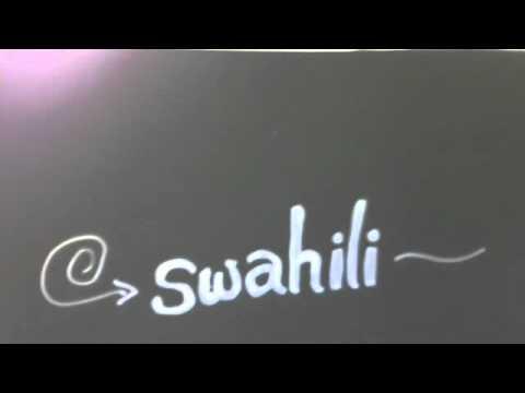 Swahili !! (a surprise language story)