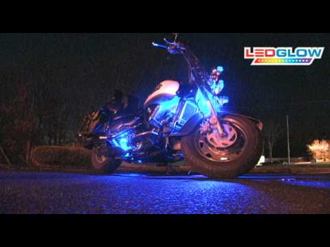 6pc Blue LED Flexible Motorcycle Engine Lighting Kit