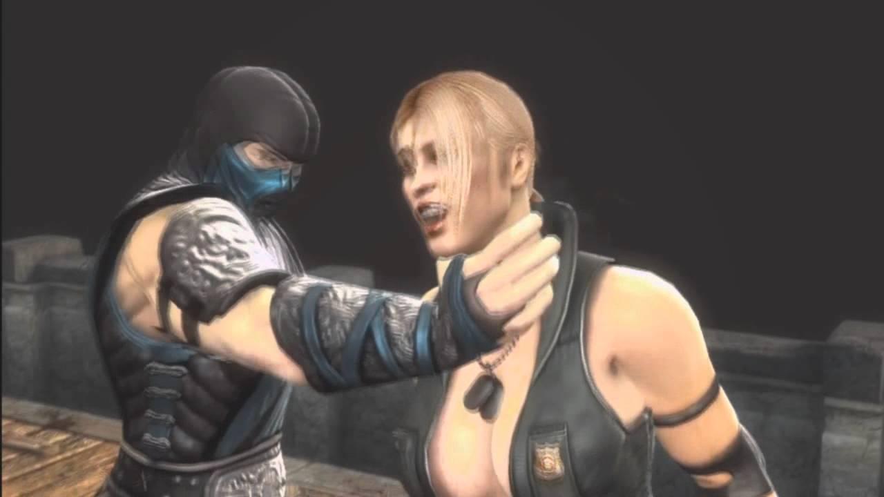 Mortal Kombat 9 Ryona Sub Zero classic head rip Jade ...