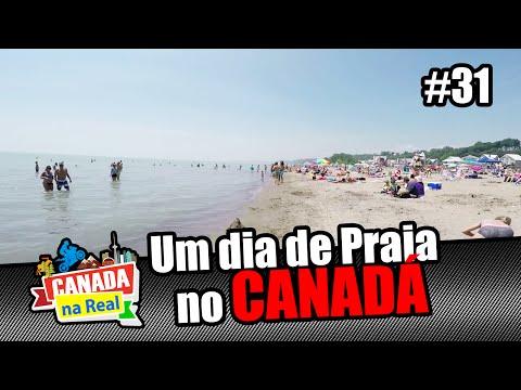 Um dia de praia no Canadá   CANADA NA REAL