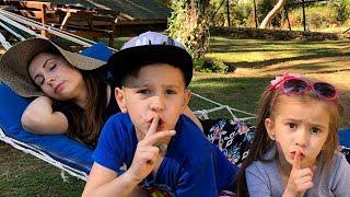 Kids pretend play Hide and Seek Funny video with mommy Joy Joy Lika