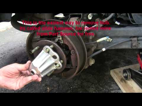 DIY Remove Rear Hub Bearing  Saturn Vue FWD 2004 Video
