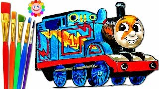 How to Draw Lightning Thomas Trackmaster – Thomas and Friends Drawing lesson for Children
