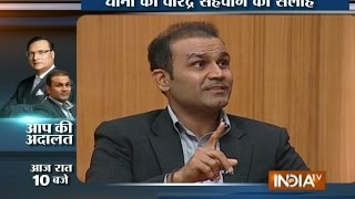 Aap Ki Adalat: Dhoni Should Not Retire till the Next World Cup, says Virender Sehwag