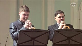VIVALDI Concerto for 2 trumpets in C - Georgy Pleskach, Artyom Sviridov