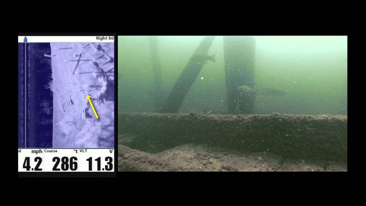 Hook n 39 look splash 03 side imaging a sunken wreck for for Fish finder side imaging
