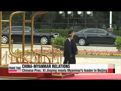 Chinese President Xi Jinping meets Myanmar leader