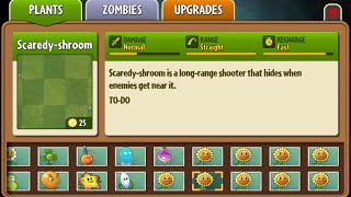 Scaredy-shroom - Scrapped Dark Ages Plant - Plants Vs. Zombies 2: It
