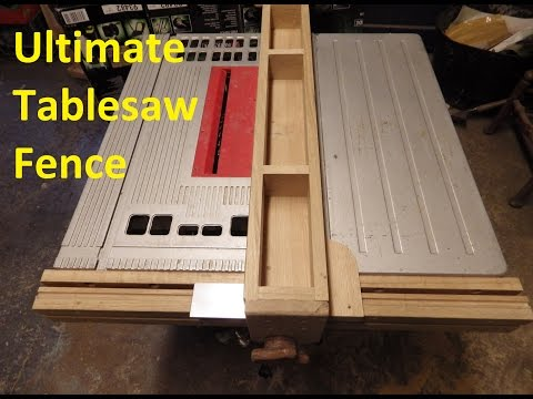 Installing the wooden table saw fence videominecraft the ultimate table saw fence greentooth Choice Image