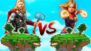 THOR ADASI VS KAPTAN MARVEL ADASI! 😱 - Minecraft