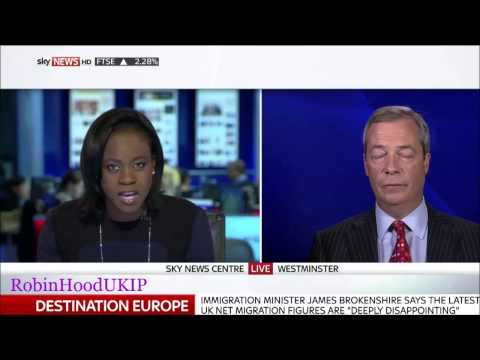 Nigel Farage The immigration figures are FAKE