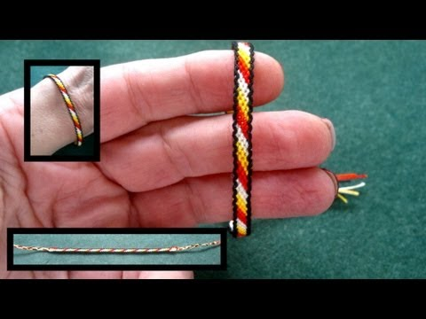 Beading4perfectionists : How to keep the black braid on the outside macrame tutorial