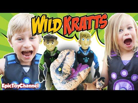 WILD KRATTS In Real Life Battle DINOSAUR Who Stole Shark Creature Power from Wild Kratts Toys