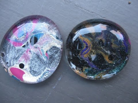 Marbled Nail Polish Glass Stones Craft