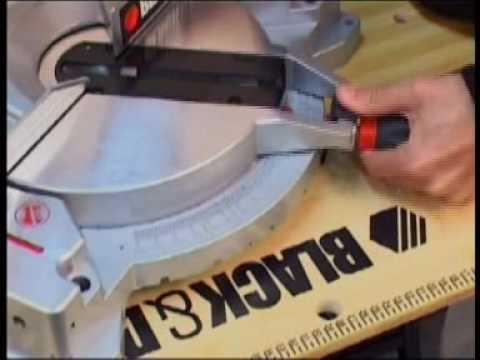 Herramientas TV - Demostracion de Sierra Ingleteadora B & D Mod BT-1400