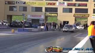PROA9X DANDY ENGINES PROCHARGED TORANA 7.53 @ 190 MPH SYDNEY DRAGWAY 25.10.2014