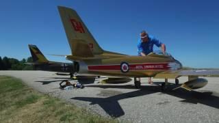 Giant RC CF86 Model Jet, Wingham, Ontario, CANADA