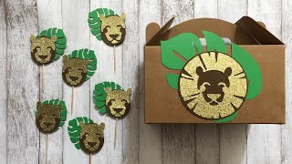 Treat Boxes & Cupcake Toppers: King of The Jungle / Lion King