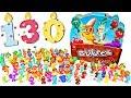 130 сюрпризов Веселые прилипалы 3 Вся коллекция Stikeez от Дикси Unboxing Surprise Toy