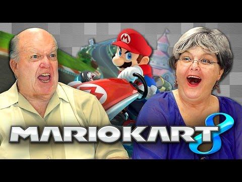 ELDERS PLAY MARIO KART 8 (Elders React: Gaming)