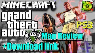 MINECRAFT - PS3 - GTA5 GRAND THEFT AUTO  MAP REVIEW + DOWNLOAD LINK ( PS4 ) TU26