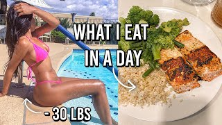 WHAT I EAT IN A DAY TO LOSE WEIGHT+ THE TRUTH on How to lose weight | How I lost 30lbs