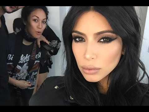 Kim Kardashian shows off her smokey eye makeup on Courtesy of Instagram