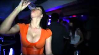Busty Beer Drinker gets Wet