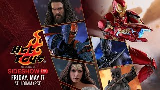 Black Panther, Aquaman, Iron Man, Deathstroke, and more! - Hot Toys Live!