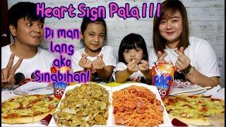 Pancit Canton x Spaghetti x 2 Pizza x  Lecheflan Mukbang