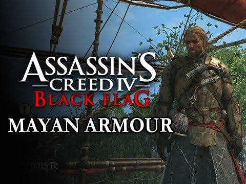 Assassin's Creed 4 Black Flag Gameplay Walkthrough - MAYAN ARMOUR Outfit Costume Location Guide