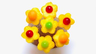 How to Make Edible Pineapple Flowers / Tips, Tricks, Party Ideas, Food Art