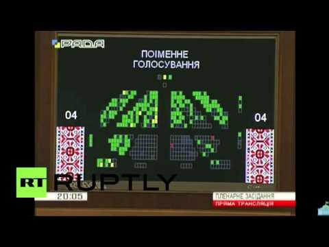 Ukraine: PM Yatsenyuk survives Rada no-confidence vote