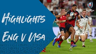 HIGHLIGHTS: England v USA - Rugby World Cup 2019
