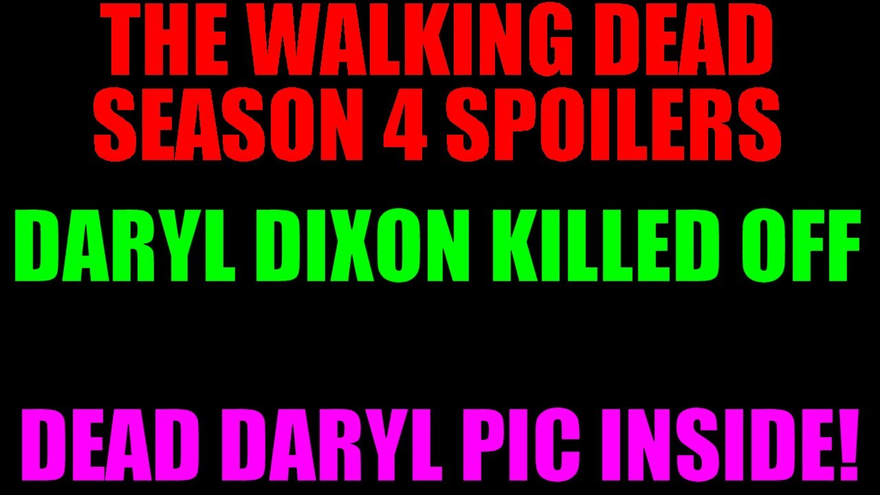 maxresdefault jpgDaryl Dixon Season 4 Dies