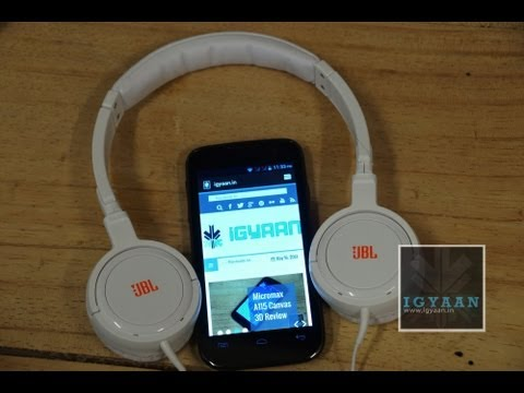 Micromax Canvas Music A88 + JBL Headphones. Unboxing and Hands On First - iGyaan