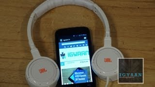 Micromax Canvas Music A88 + JBL Headphones, Unboxing and Hands On First - iGyaan