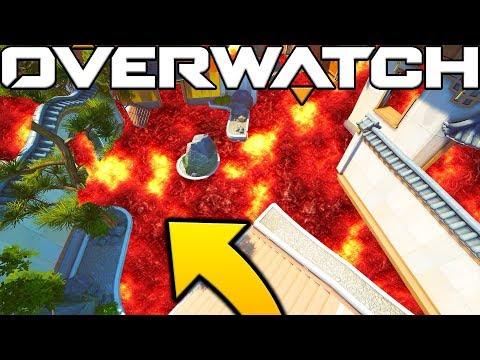 THE FLOOR IS LAVA CHALLENGE IN OVERWATCH!? WITH JEROMEASF AND FRIENDS!