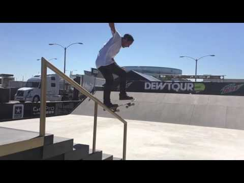 Dew tour practice with Micky Papa