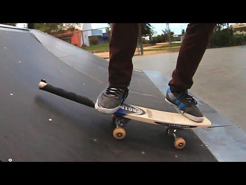 SKATEBOARDING ON A CRICKET BAT!  | SKATE EVERYTHING EP 26