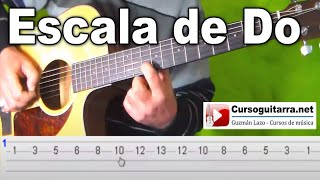 Escala de do mayor en la Guitarra -  Para principiantes
