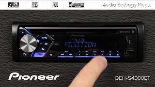 How To - Audio Settings Menu on Pioneer In-Dash Receivers 2018