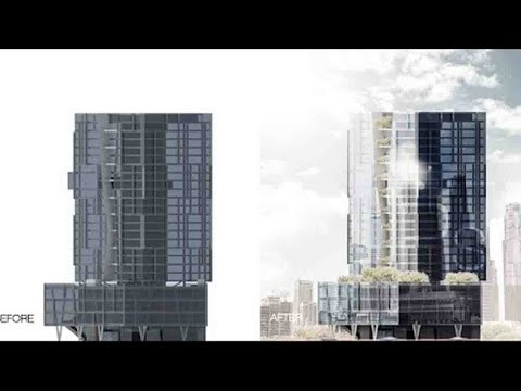 Elevation architecture in Photoshop Tutorial