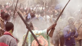 Death Celebration in Cameroon, small willage near Bamenda, march 2012.
