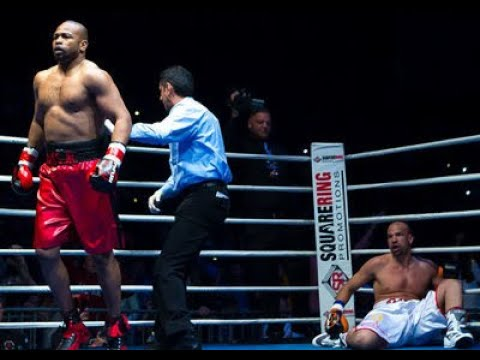 Roy Jones Jr. vs Paul Vasquez 1st round KO Complete Fight